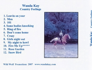 Country Feelings CD Back
