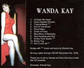 Wanda CD Back
